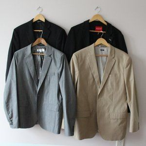 FOUR Men's Blazers Saks, Perry Ellis, Guess